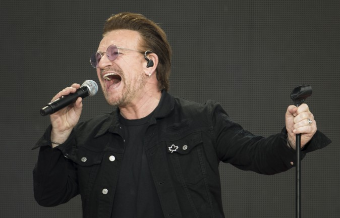 Bono of U2 performs in Ottawa, Canada on July 1, 2017. U2 U2 canceled its Sept. 16, 2017 show in St. Louis due to violent protests in the city. (Chris Roussakis /AFP/Getty Images)