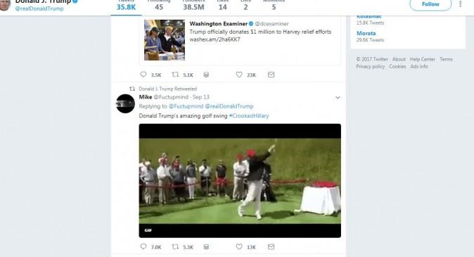 (Twitter/screenshot - Donald Trump's account timeline)