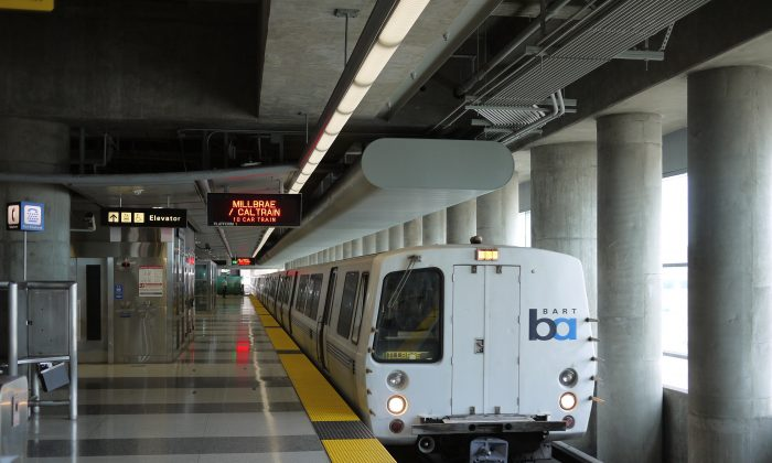 Bay Area Rapid Transit (BART) train in San Francisco. (Christopher Down/CC BY 4.0)