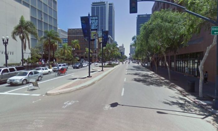 Downtown San Diego in this undated photo. (Google Street View)