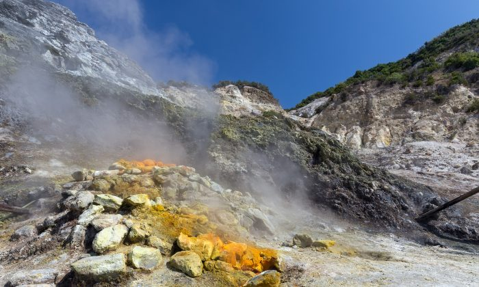 Campi Flegrei at the Solfatara  Crater in Pozzuoli, Italy. (Shutterstock/Peter Schwarz)
