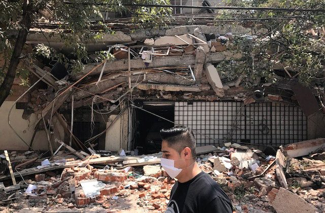 Damages are seen after an earthquake hit in Mexico City, Mexico on Sept. 19, 2017. (REUTERS/Carlos Jasso)