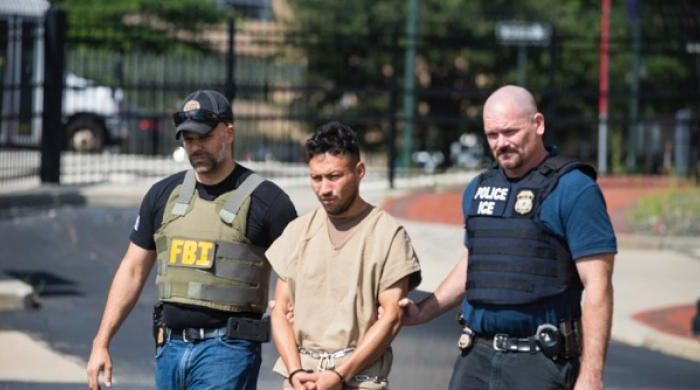 A former fugitive MS-13 gang member, who was arrested earlier this month in Virginia, made his initial appearance in federal court for a gang-related murder in Newark, N.J., on Aug. 23. (ICE)