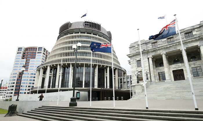 A general view of New Zealand's Parliament House in Wellington in this file photo. (Hagen Hopkins/Getty Images)