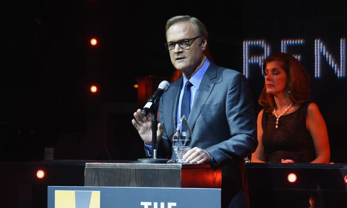 Lawrence O'Donnell speaks onstage at the Creative Coalition's spotlight awards dinner gala at Marquee on October 14, 2014 in New York City.  (Photo by Andrew H. Walker/Getty Images)