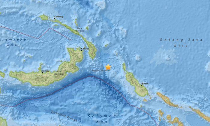 The quake struck Thursday at 1 p.m. (USGS)