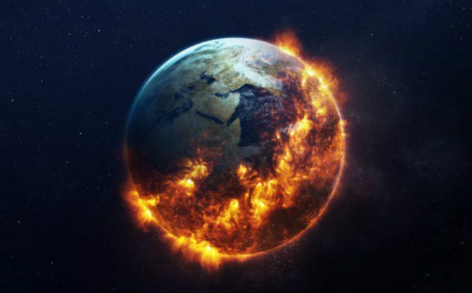 Global catastrophe concept illustration. Elements furnished by NASA.(Vadim Sadovski / Shutterstock)