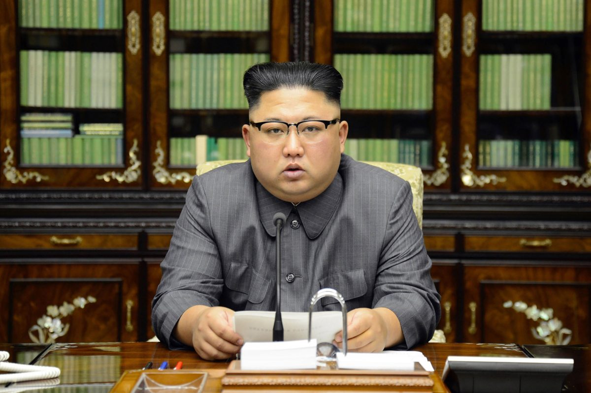 North Korean dictator Kim Jong-Un delivers a statement in Pyongyan in response to US President Donald Trump's U.N. speech, on Sept. 21, 2017. (STR/AFP/Getty Images)