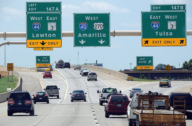 "File Photo of I-40 in Oklahoma City taken on Aug. 1, 2014. (""I40"" by duggar11/Flickr [CC BY 2.0 (ept.ms/2haHp2Y)])"