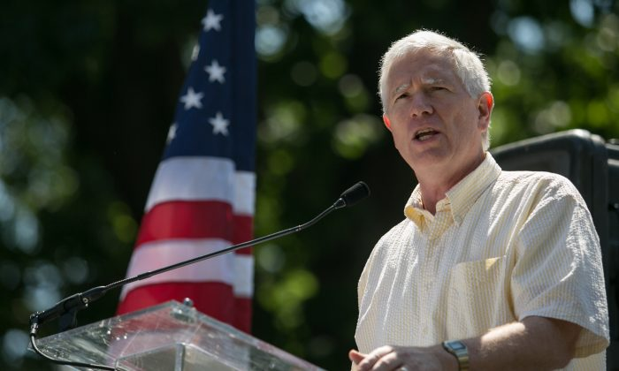Rep. Mo Brooks (R-Ala.) speaks during the D.C. March for Jobs in Upper Senate Park near Capitol Hill, on July 15, 2013, in Washington. (Drew Angerer/Getty Images)