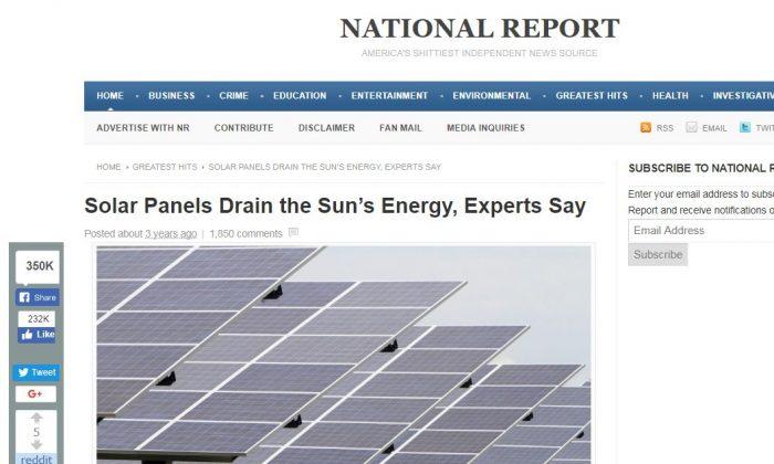 A screenshot of Paul Horner's website, National Report (Screenshot/Nationalreport.com)