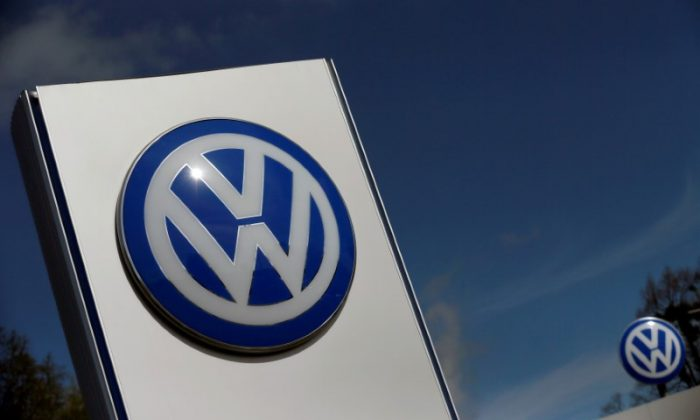 In this file photo, a Volkswagen logo is pictured at Volkswagen's headquarters in Wolfsburg, Germany on April 22, 2016. (REUTERS/Hannibal Hanschke/File Photo)
