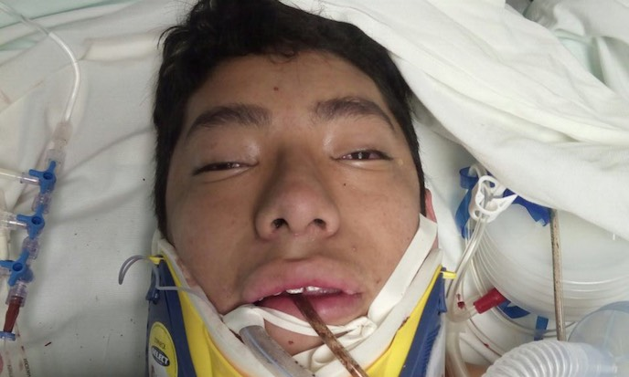 Brayan Martinez Juarez, 18, was crushed while searching for victims trapped inside a collapsed building in Mexico City on Sept. 20, 2017, after a magnitude-7.1 earthquake struck the day before. (Family handout)