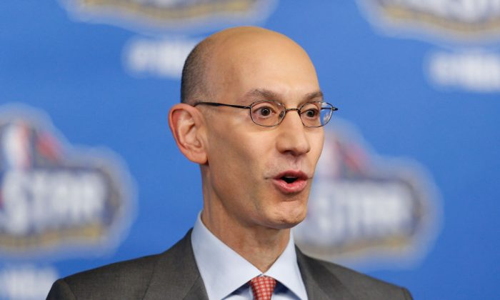 NBA Commissioner Adam Silver speaks with the media during a press conference at Smoothie King Center on Feb. 18, 2017, in New Orleans, La. (Jonathan Bachman/Getty Images)