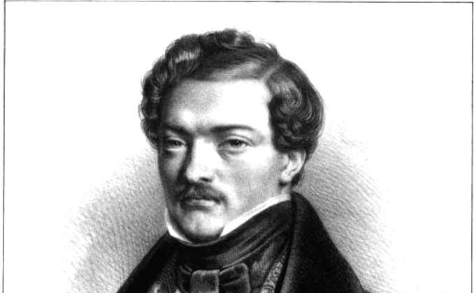 Drawing of the French 19th century tenor Gilbert Duprez. (Public domain)