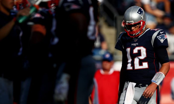 Tom Brady of the New England Patriots during a game against the Houston Texans.(Maddie Meyer/Getty Images)