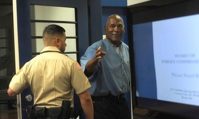 O.J. Simpson at Lovelock Correctional Center in Lovelock, Nev., on July 20, 2017. (Jason Bean-Pool/Getty Images)