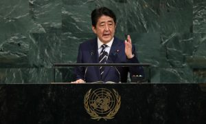 North Korea Threatens 'Nuclear Clouds' Over Japan After Shinzo Abe Speech