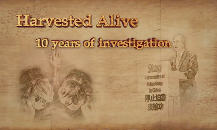 "A screenshot from the documentary ""Harvested Alive.""  (Screenshot via Deerpark Studios)"