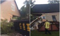Train Cars Crash Into Home in Atlanta, Sending Resident to Hospital