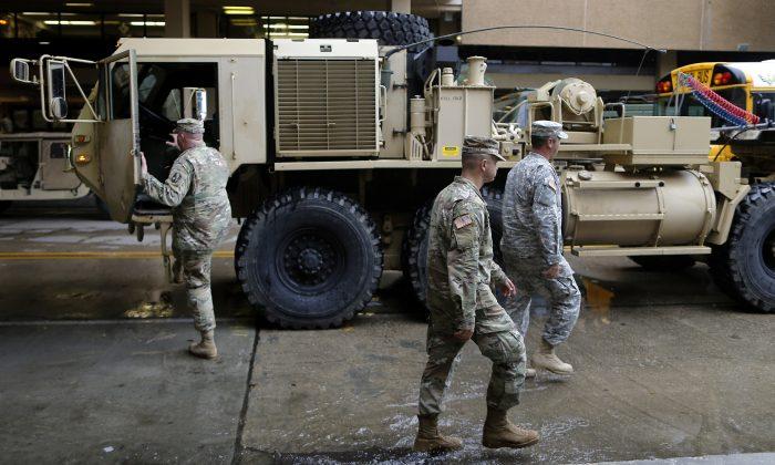 Members of the Louisiana National Guard in a file photo. (Reuters/Jonathan Bachman)