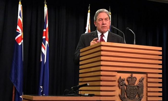 Winston Peters, New Zealand's deputy prime minister and foreign affairs minister, in a file photo. (Charlotte Greenfield/Reuters/File photo)