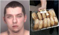 Man Loses Facebook Challenge to Police, Turns Himself In, Brings Donuts
