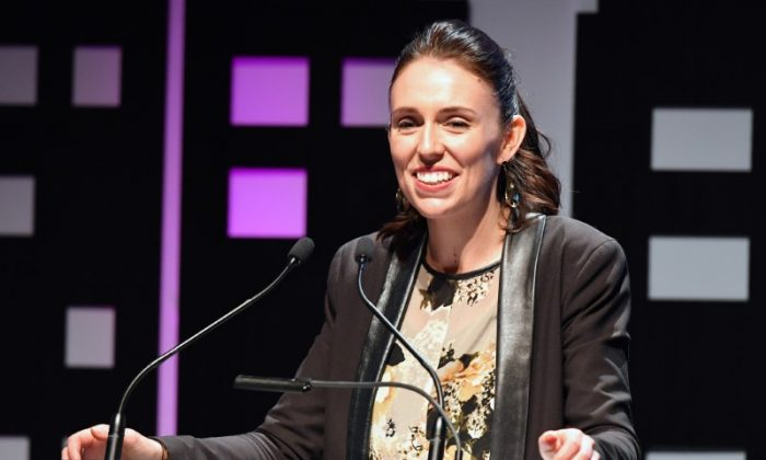 New Zealand's new opposition Labour party leader, Jacinda Ardern, speaks during an event held ahead of the national election at the Te Papa Museum in Wellington, New Zealand Aug. 23, 2017. (REUTERS/Ross Setford)