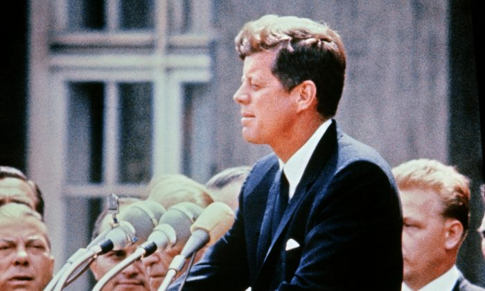 A picture of then Sen. John F Kennedy on July 15, 1957. (STRINGER/AFP/Getty Images)