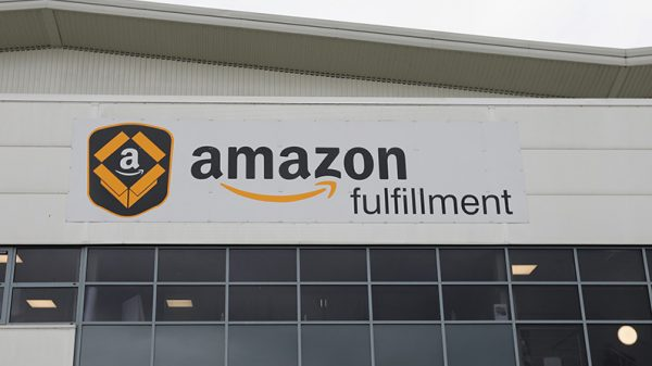 An Amazon fulfillment center in a file photo. (Dan Kitwood/Getty Images)