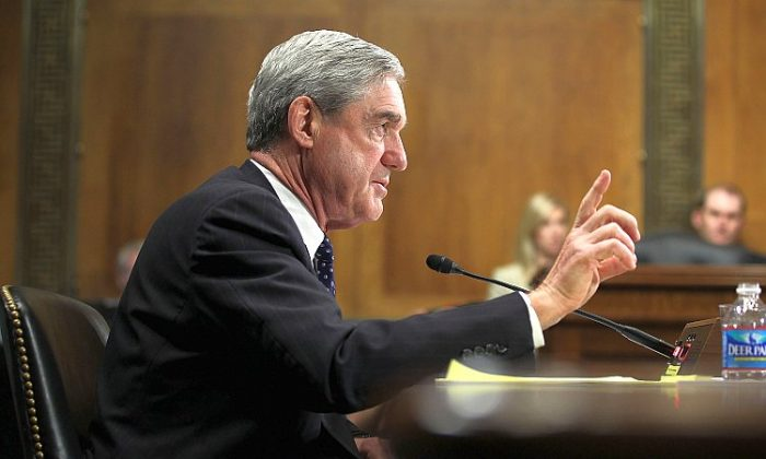 Special Counsel Robert Mueller testifies during a hearing before the Senate Judiciary Committee in Washington when he was FBI director, in 2012, in this file photo. (Alex Wong/Getty Images)
