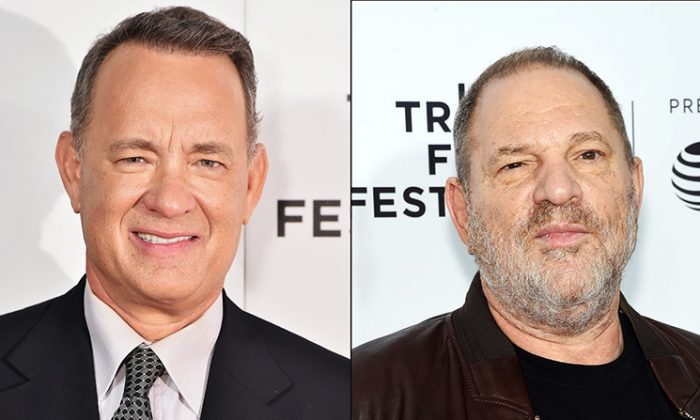 Tom Hanks (L) (Theo Wargo/Getty Images for Tribeca Film Festival) and Harvey Weinstein (R) (Jamie McCarthy/Getty Images for Tribeca Film Festival)