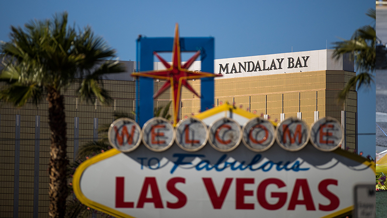 A view of the Mandalay Bay Resort and Casino, October 3, 2017 in Las Vegas, Nevada. (Drew Angerer/Getty Images)