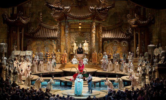 "A scene from Giacomo Puccini's ""Turandot."" (Marty Sohl/The Metropolitan Opera)"