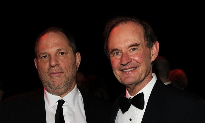 Harvey Weinstein (L) and David Boies at Frederick P. Rose Hall, Jazz at Lincoln Center in New York City on April 26, 2011. (Larry Busacca/Getty Images for TIME)
