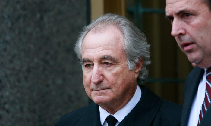 Financier Bernard Madoff leaves Manhattan Federal court in New York City on March 10, 2009. (Mario Tama/Getty Images)