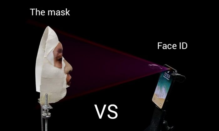 An image of the mask used by Bkav tech company, which they claim unlocks the iPhone X. (Bkav)