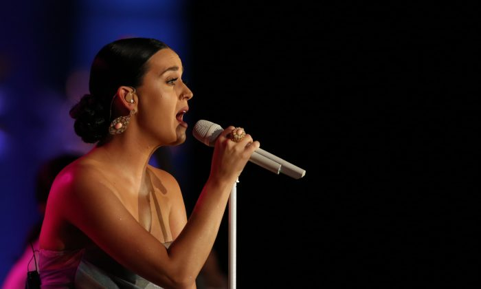 Katy Perry at the 2015 Starkey Hearing Foundation So The World May Hear Gala at the St. Paul RiverCentre, on July 26, 2015, in St. Paul, Minn.(Adam Bettcher/Getty Images for the Starkey Hearing Foundation)