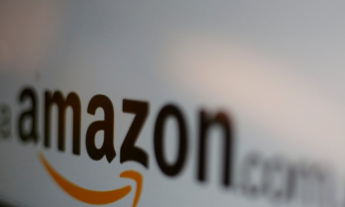 The logo of the web service Amazon is pictured in Mexico City, Mexico on June 8, 2017. (Reuters/Carlos Jasso/Illustration/File Photo)