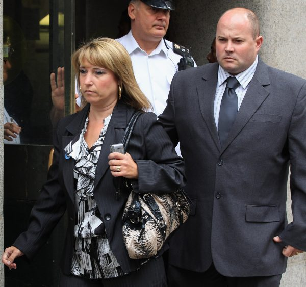 James Bulger's mother and husband leave court