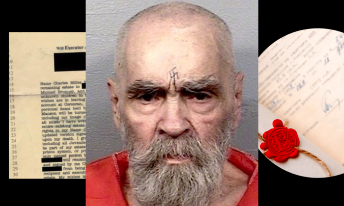 As Charles Manson's body remains in a morgue, there are three individuals in contention for his body. (California Department of Corrections and Rehabilitation/Shutterstock/composite image by Tom Ozimek)