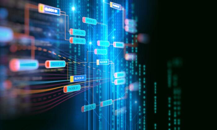 An artist's rendering of blockchain technology. (Shutterstock)