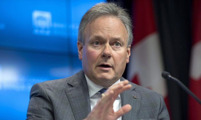 Bank of Canada Governor Stephen Poloz speaks to reporters during a press conference following the release of the Financial System Review in Ottawa on Nov. 28, 2017. The bank says policy measures are doing the job of reducing housing market vulnerabilities. (The Canadian Press/Justin Tang)