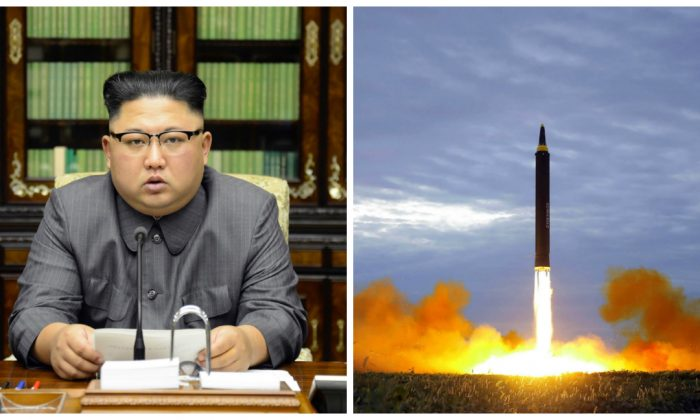 North Korean leader Kim Jong-Un claims to have completed North Korea's state nuclear force, but the timing of his latest launch could reveal he is not beyond intimidation.(STR/AFP/Getty Images)