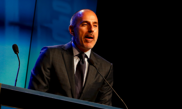 "Fired NBC ""Today"" show host Matt Lauer at an awards ceremony in New York City on Nov. 24, 2014. (Photo by Jeff Zelevansky/Getty Images)"