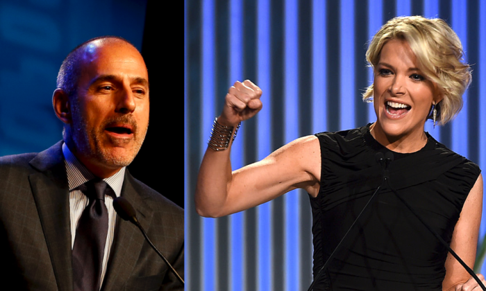 Megyn Kelly wants Matt Lauer and the women who accuse him of sexual misconduct to appear on her show and share their stories. (Photo of Matt Lauer by Jeff Zelevansky/Getty Images, photo of Megyn Kelly by Kevin Winter/Getty Images for The Hollywood Reporter)