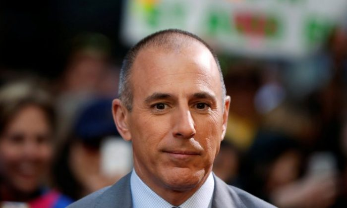 "Host Matt Lauer at NBC's ""Today"" show at Rockefeller Center in New York, May 3, 2013. (Lucas Jackson/Reuters/File Photo)"