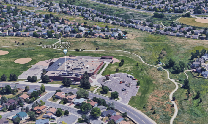 Sunrise Elementary School in Aurora, Colorado. (Screenshot/Google Maps)