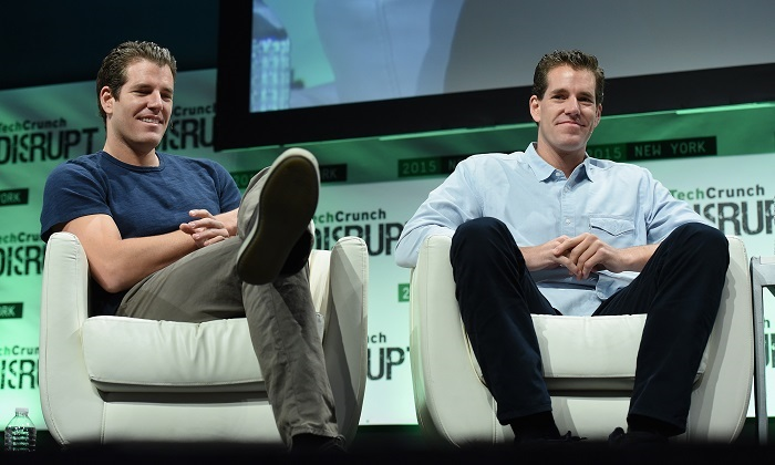 Co-founders at Winklevoss Capital, Tyler Winklevoss (L) and Cameron Winklevoss (R) speak onstage during TechCrunch Disrupt NY 2015 at The Manhattan Center New York City in this file image. (Noam Galai/Getty Images for TechCrunch)