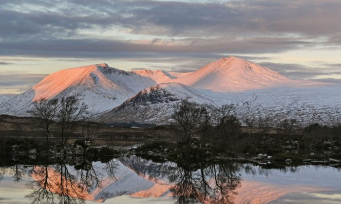Snow on the hills on December 1, 2017 in Fort William, Scotland. Scotland is likely to have more snow as a cold front moves in from the arctic